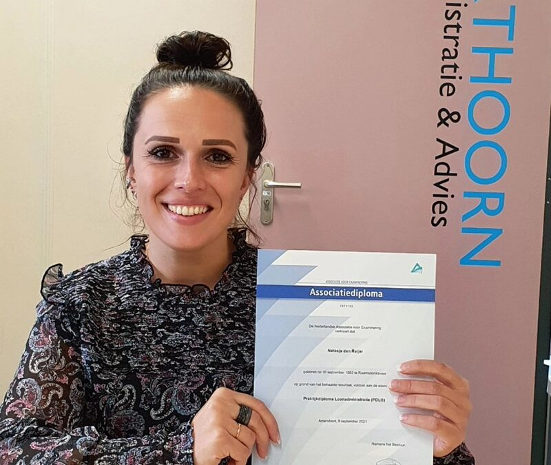 Harthoorn Bedrijfsadvies feliciteert Natasja!